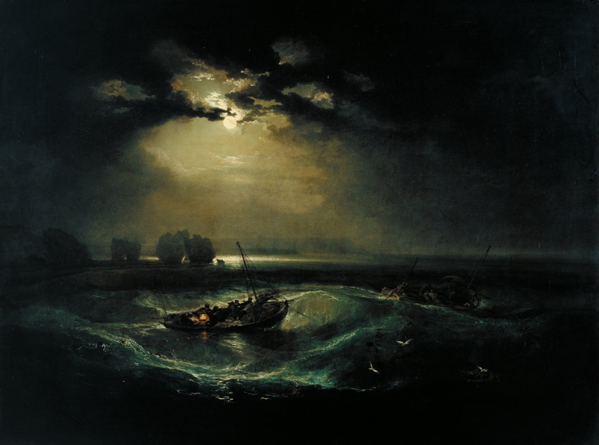 JMW Turner, Fishermen At Sea, 1796