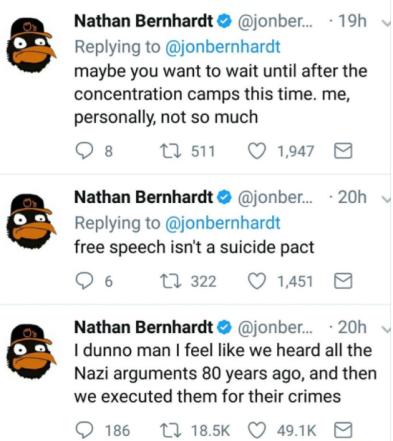 Bernhardt 3 Tweets